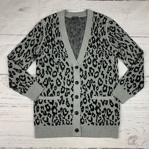 The Limited animal print cardigan sweater S30
